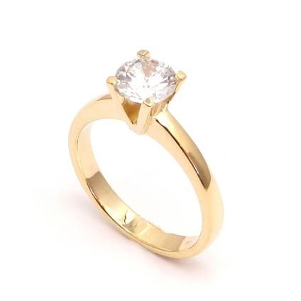 Оправа кольца из красного золота для бриллианта от 1 карата