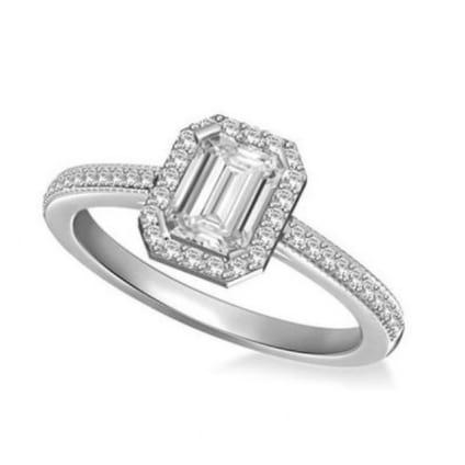 Оправа кольца для бриллианта огранки изумруд 1.5 карата