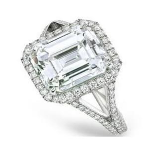 Оправа кольца с бриллиантом 3 карата Радиант