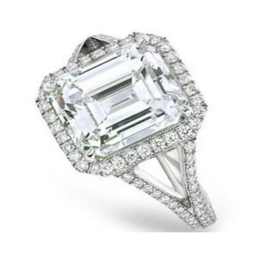 Кольцо с бриллиантом 3 - 5 карат Радиант Ашер или Изумруд купить в ... 7315925ef7b