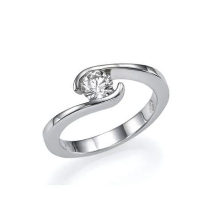 Оправа кольцо классика золото с бриллиантом