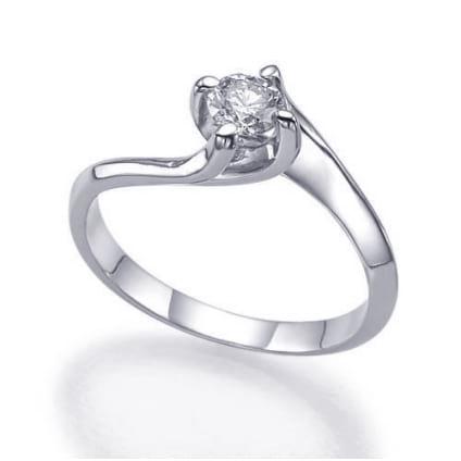Изысканная оправа- кольцо с 1 бриллиантом