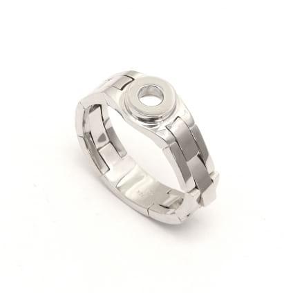 Оправа из белого золота мужское кольцо с бриллиантом
