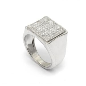 Перстень с россыпью меклих бриллиантов 1 карат