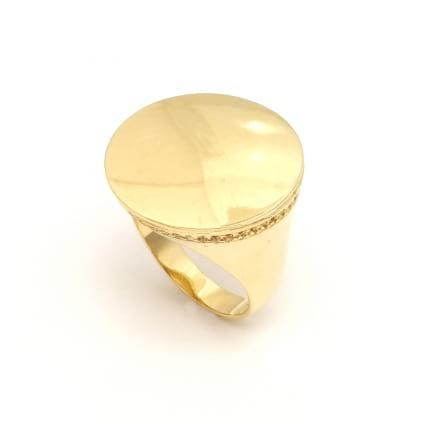 Печатка из желтого золота с бриллиантами