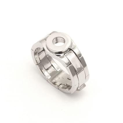 Мужская оправа кольцо из золота с 1 бриллиантом