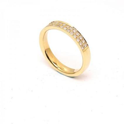Обручальное кольцо с бриллиантами 0.33 карата
