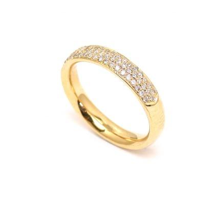 Обручальное кольцо золото с бриллиантами 0.44  карата