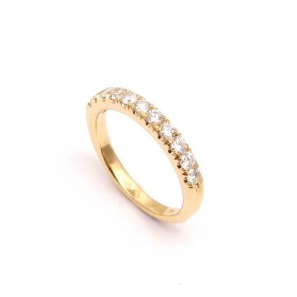 Венчальное кольцо золото с бриллиантами 0.55 карата
