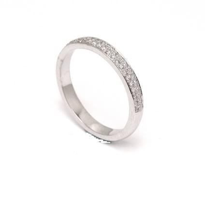 Венчальное кольцо с бриллиантами 0.24 карата