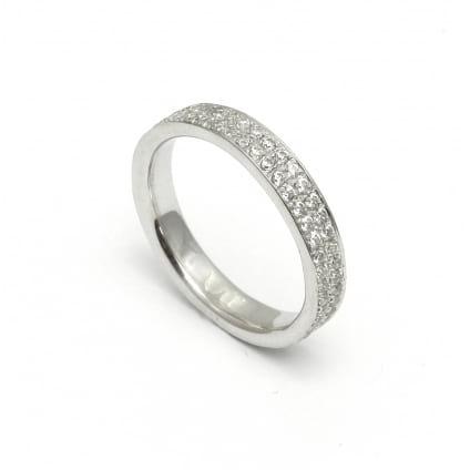 Кольцо обручальное с мелкими бриллиантами 0.93 карат