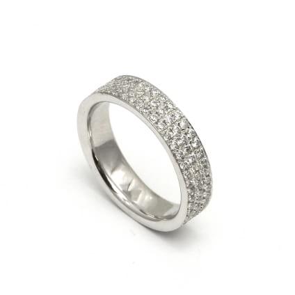Золотое обручальное кольцо с бриллианитами 1.41 карата