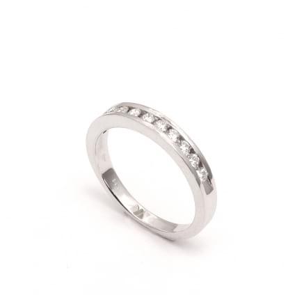 Бриллиатовое обручальое кольцо из белого золота