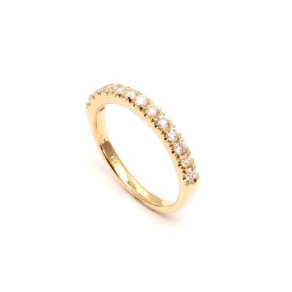 Обручальное кольцо с бриллиантами 0.39 карат