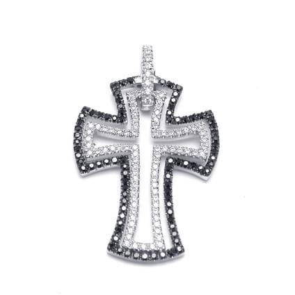 Нательный крест с бриллиантами 0.75 карата
