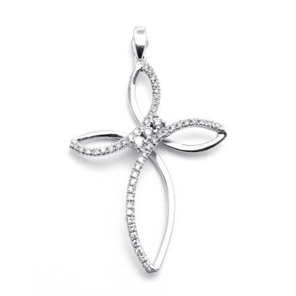 Женксий кресткий с бриллиантами