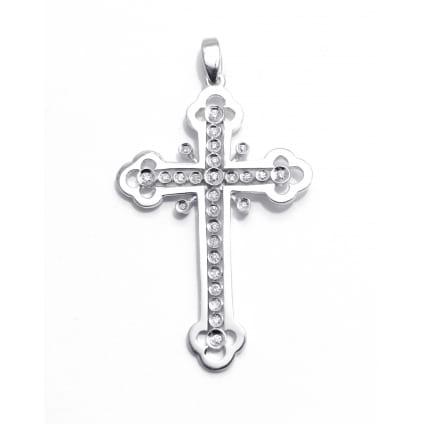 Православный крестик с бриллиантами 0.18 карат
