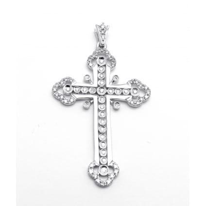 Золотой крестик с бриллиантами 0.45 карата