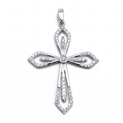 Золотой бриллиантовый крестик