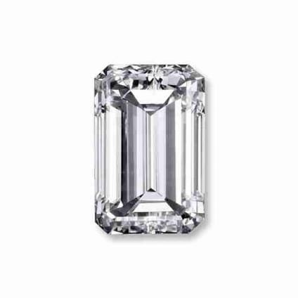Бриллиант, Изумруд, 3.04 карат, H, VVS2