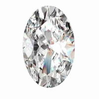 Бриллиант, Овал, 24.63 карат, G, VS1