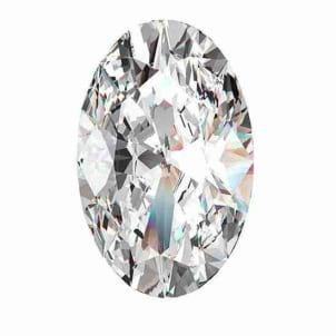 Бриллиант, Овал, 0.50 карат, I, VS2
