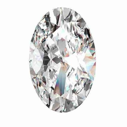 Бриллиант, Овал, 0.91 карат, F, SI1