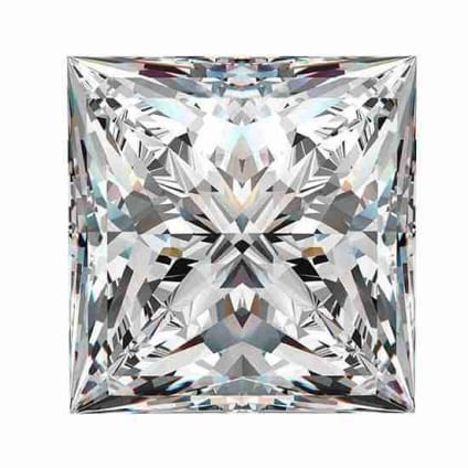 Бриллиант, Принцесса, 5.42 карат, H, VS2