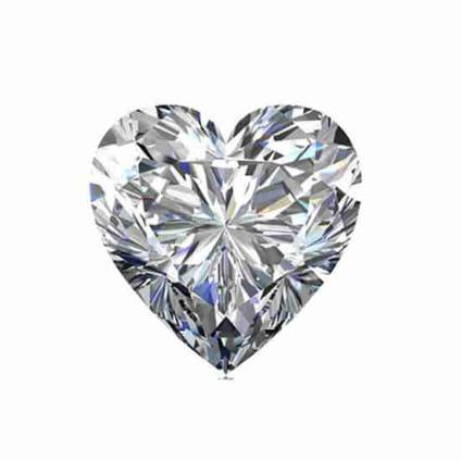 Бриллиант, Сердце, 1.01 карат, F, VS2
