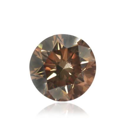 Камень без оправы, бриллиант Цвет: Коричневый, Вес: 0.36 карат
