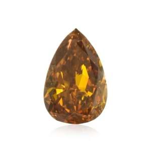 Камень без оправы, бриллиант Цвет: Оранжевый, Вес: 0.38 карат