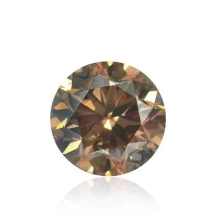 Камень без оправы, бриллиант Цвет: Коричневый, Вес: 0.38 карат