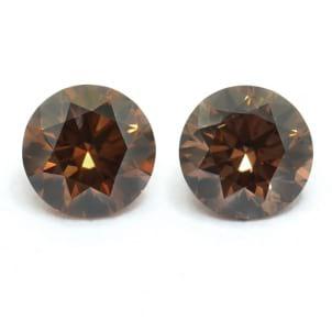 Камень без оправы, бриллиант Цвет: Коричневый, Вес: 0.34 карат