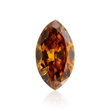 Камень без оправы, бриллиант Цвет: Оранжевый, Вес: 0.34 карат