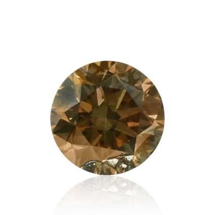 Камень без оправы, бриллиант Цвет: Коричневый, Вес: 0.52 карат