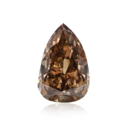 Камень без оправы, бриллиант Цвет: Коричневый, Вес: 0.24 карат