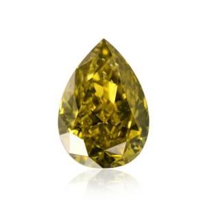 Камень без оправы, бриллиант Цвет: Желтый, Вес: 0.28 карат