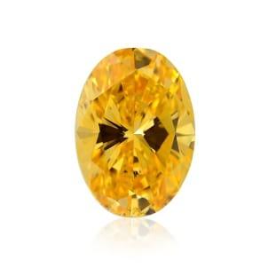 Камень без оправы, бриллиант Цвет: Оранжевый, Вес: 1.77 карат
