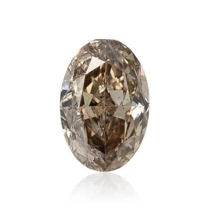 Камень без оправы, бриллиант Цвет: Коричневый, Вес: 0.44 карат