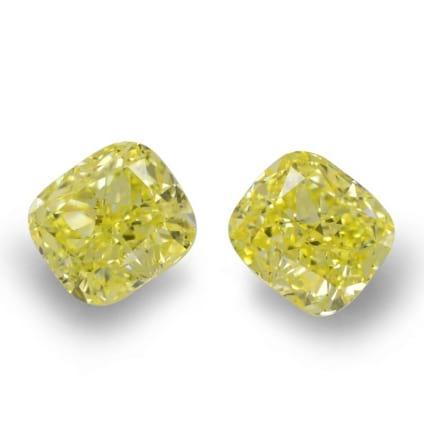 Камень без оправы, бриллиант Цвет: Желтый, Вес: 0.96 карат