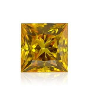 Камень без оправы, бриллиант Цвет: Желтый, Вес: 0.38 карат