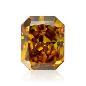 Камень без оправы, бриллиант Цвет: Оранжевый, Вес: 1.11 карат