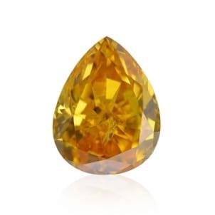 Камень без оправы, бриллиант Цвет: Оранжевый, Вес: 0.29 карат