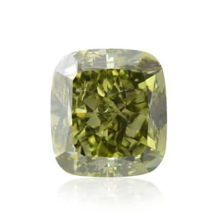 Камень без оправы, бриллиант Цвет: Зеленый, Вес: 4.06 карат