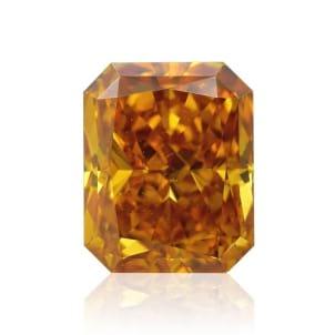 Камень без оправы, бриллиант Цвет: Оранжевый, Вес: 1.26 карат