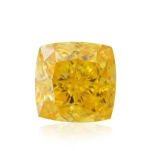 Камень без оправы, бриллиант Цвет: Желтый, Вес: 0.59 карат