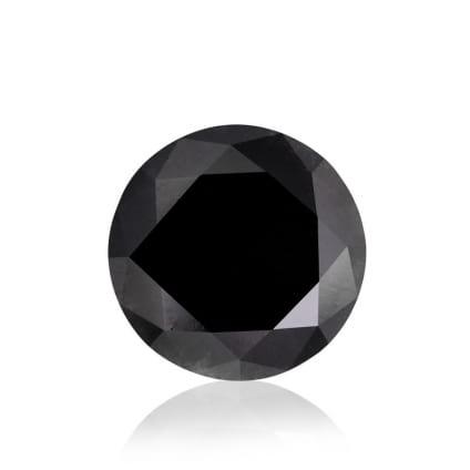 Камень без оправы, бриллиант Цвет: Черный, Вес: 2.57 карат