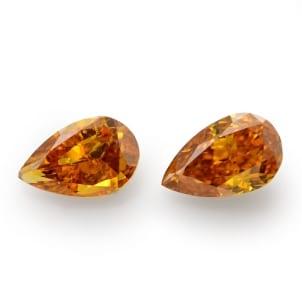 Камень без оправы, бриллиант Цвет: Оранжевый, Вес: 0.92 карат