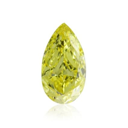 Камень без оправы, бриллиант Цвет: Желтый, Вес: 0.57 карат