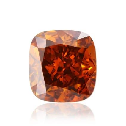 Камень без оправы, бриллиант Цвет: Оранжевый, Вес: 0.59 карат